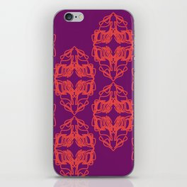 Luxury monograms Vint. pink iPhone Skin