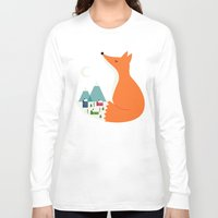 dreams Long Sleeve T-shirts featuring Winter Dreams by Andy Westface