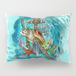 Turtle and Sea Pillow Sham
