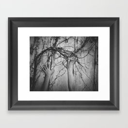 reaching, growing Framed Art Print