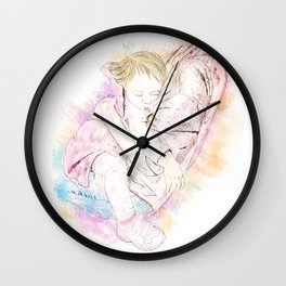 In Mama's Arms Wall Clock