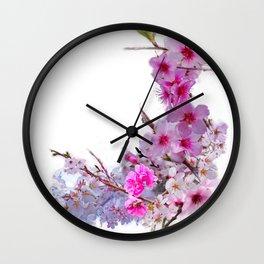 Blossoms That Shape Japan Wall Clock