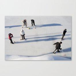 Curling Canvas Print