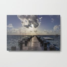 Sunrise at the Dock Metal Print