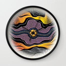 Modern Aboriginal 5 Wall Clock
