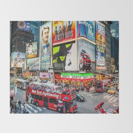 Times Square II Special Edition III Throw Blanket