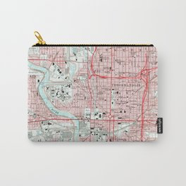 Vintage Map of Indianapolis Indiana (1967) Carry-All Pouch