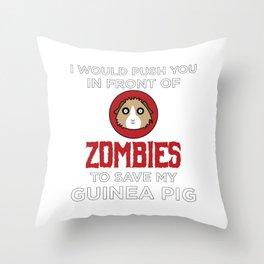 Funny Animal Guinea Pig Tshirt Design I would push you Throw Pillow