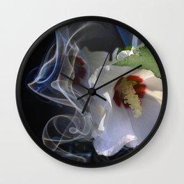Rose Of Sharon Aura Wall Clock