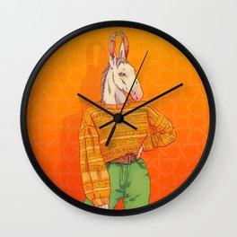 CLARA THE DONKEY Wall Clock