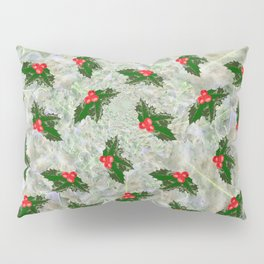 Christmas holly leaves pattern Pillow Sham