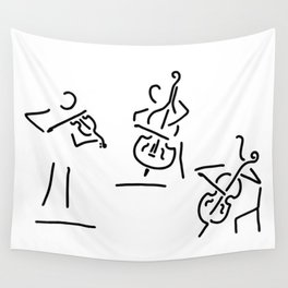 violinist cellist string player contrabass Wall Tapestry