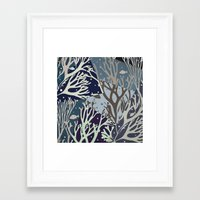 under the sea Framed Art Prints featuring Under the Sea - Abstract by Paula Belle Flores