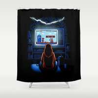 8bit Shower Curtains featuring 8bit Who by Bamboota