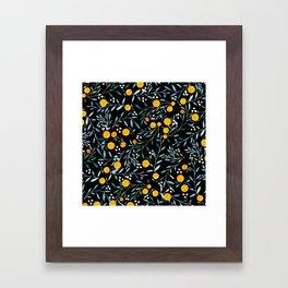 Oranges Black Framed Art Print