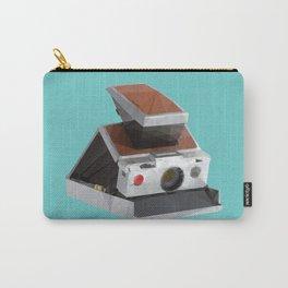 Retro Polaroid SX-70 Camera Polygon Art Carry-All Pouch