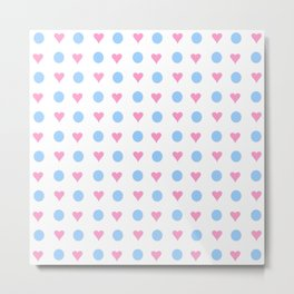 Heart and polka dot Metal Print