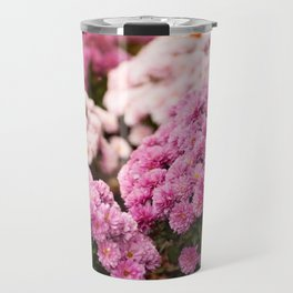 Many pink Dendranthema flowers Travel Mug