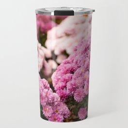 Many pink Dendranthema flowers Travel Mug