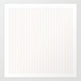Pale Dogwood Stripes Art Print