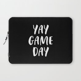 Yay Game Day Football Sports Team White Text Laptop Sleeve