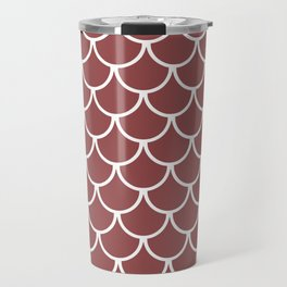 Rustic Red Fish Scales Pattern Travel Mug