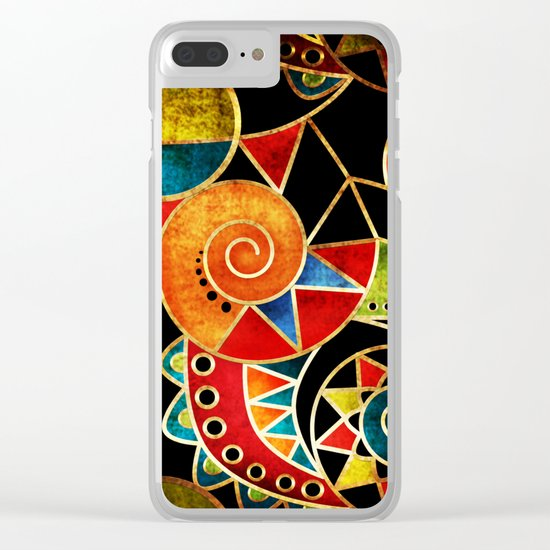 Abstraction - Carnival Clear iPhone Case