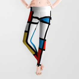 Tribute to Mondrian No2 Leggings
