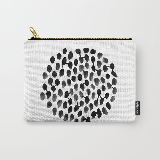 Brooks - black and white minimal india ink watercolor painting modern boho hipster urban painting Carry-All Pouch