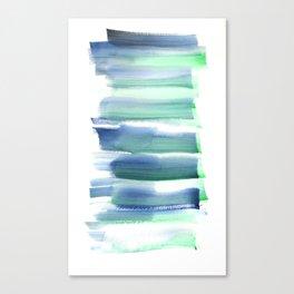 Frozen Summer Series 158 | Watercolor Simple Pattern Blue Shades Vertical Canvas Print