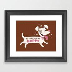 Dog kisses Framed Art Print
