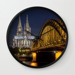 Cologne by night Wall Clock
