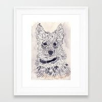 puppy Framed Art Prints featuring Puppy by echoes