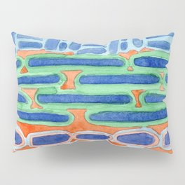 Blue Shapes Pattern Pillow Sham