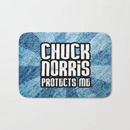 C. Norris protects me Bath Mat