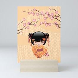 Japanese Ume Kokeshi Doll Mini Art Print