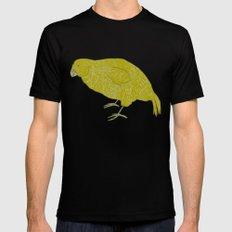 Kakapo Says Hello! Black Mens Fitted Tee MEDIUM