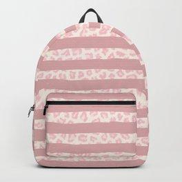 Modern coral watercolor brushstrokes pink animal print Backpack