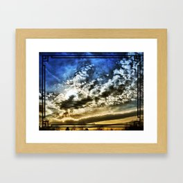 Setting Sun With Hopes To Come Framed Art Print