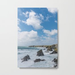 Bedruthan Steps Newquay Cornwall Metal Print