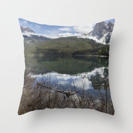Looking South Towards Mt Burgess from Emerald Lake Throw Pillow