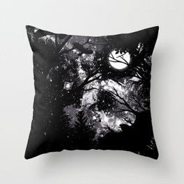 THE NIGHT IS CURSED Throw Pillow