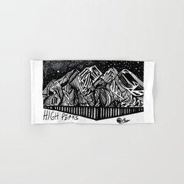 """High Peaks"" Hand-Drawn Adirondacks by Dark Mountain Arts Hand & Bath Towel"