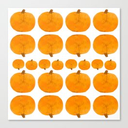 Pumpkin Pattern | Rustic Canvas Print