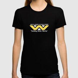 "ALIENS - Weyland-Yutani (2179 logo) ""Building Better Worlds"" T-shirt"
