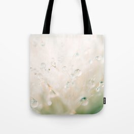 winter reflected in the morning dew Tote Bag