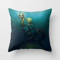le petit prince Throw Pillows featuring Le Petit Prince by unyonstudios
