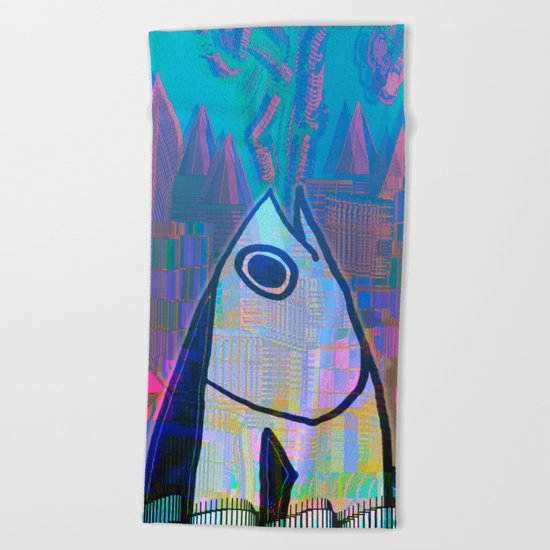 Tuna in Atlantis 31-07-16 Beach Towel