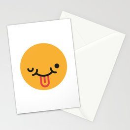 Emojis: Crazy face Stationery Cards