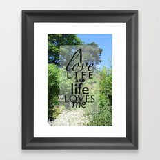 Life is just Framed Art Print